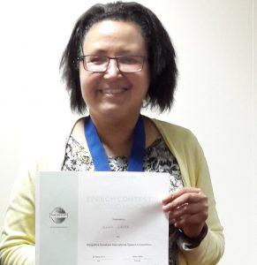 Jenny Gater President of Shropshire Speakers 2016/7