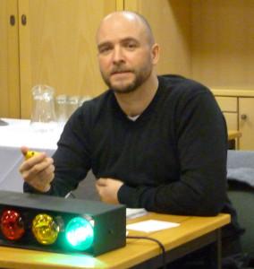 Steve Burrows as timekeeper