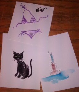 cat bikini statue of liberty